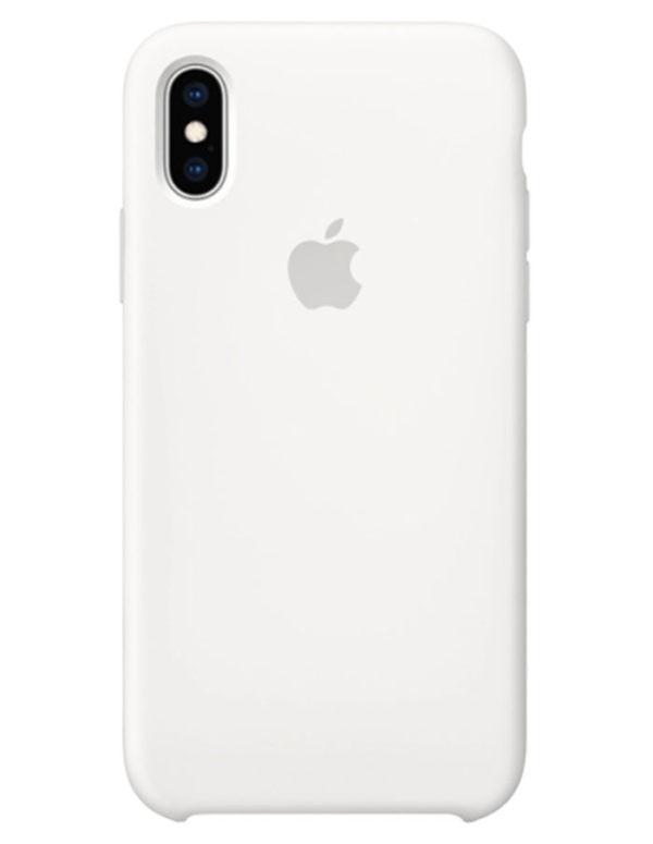 Чехол iPhone XS Max Silicone Case Wtite (Оригинал)