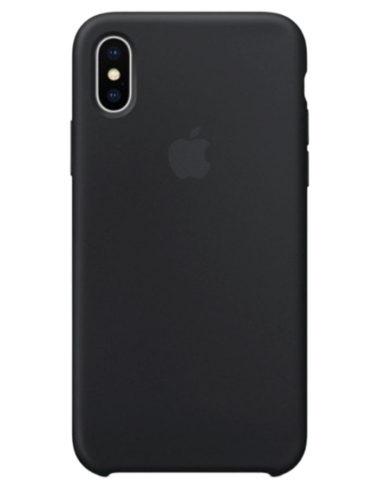 Чехол iPhone X Silicone Case Black (Оригинал)