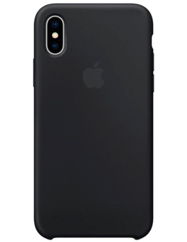 Чехол iPhone XS Silicone Case Black (Оригинал)