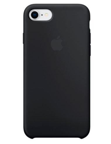 Чехол iPhone 8/7 Silicone Case Black (Оригинал)