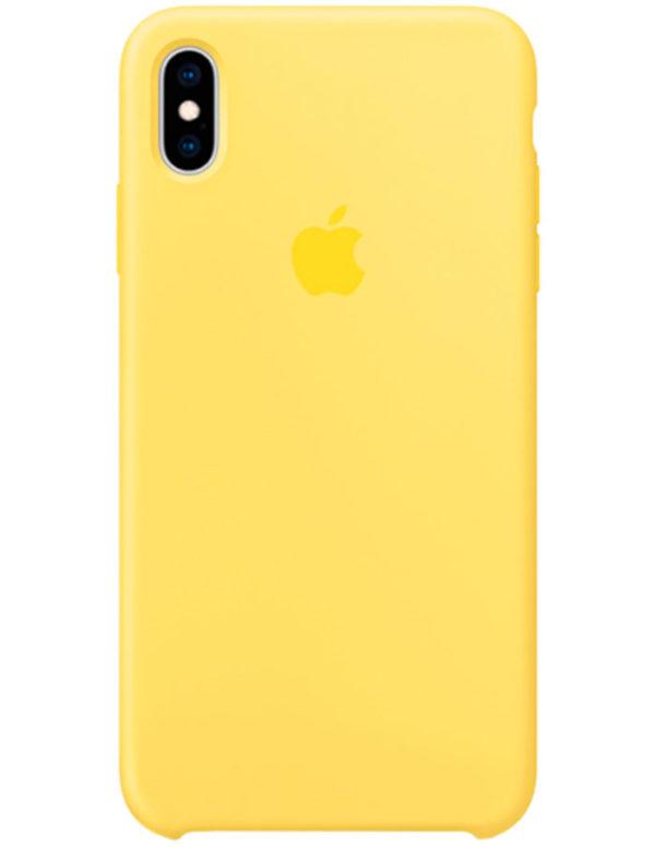 Чехол iPhone XS Silicone Case Canary Yellow (Оригинал)