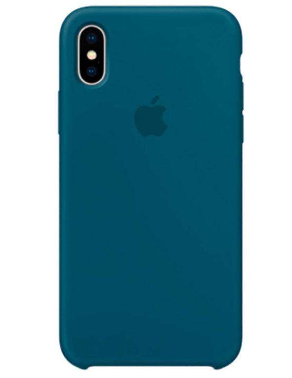 Чехол iPhone X Silicone Case Cosmos Blue (Оригинал)