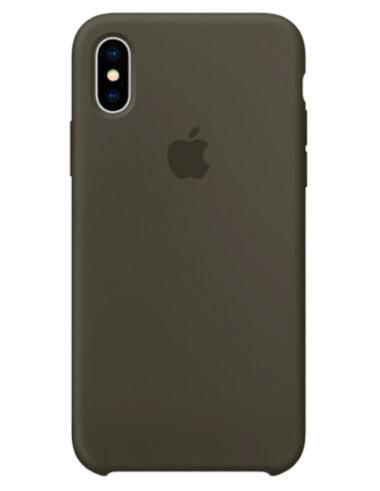 Чехол iPhone X Silicone Case Dark Olive (Оригинал)