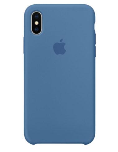 Чехол iPhone X Silicone Case Denim Blue (Оригинал)