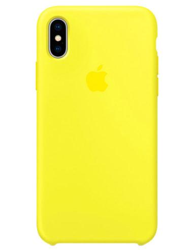 Чехол iPhone X Silicone Case Flash (Оригинал)