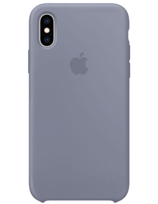Чехол iPhone XS Silicone Case Lavender Gray (Оригинал)