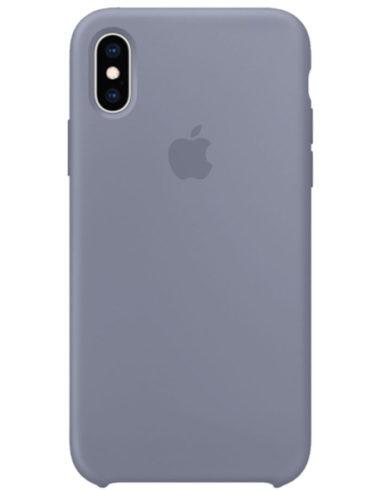 Чехол iPhone XS Max Silicone Case Lavender Gray (Оригинал)