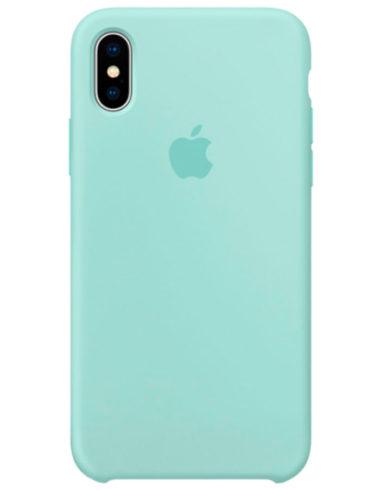 Чехол iPhone X Silicone Case Marine Green (Оригинал)