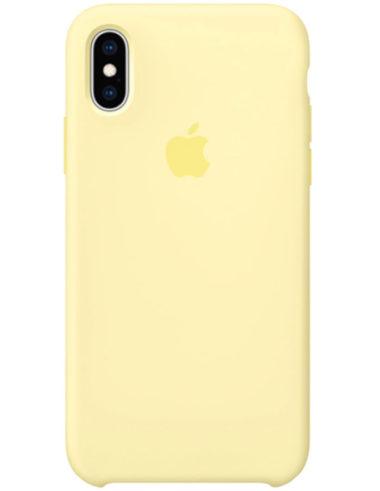 Чехол iPhone XS Silicone Case Mellow Yellow (Оригинал)