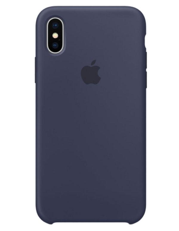 Чехол iPhone X Silicone Case Midnight Blue (Оригинал)