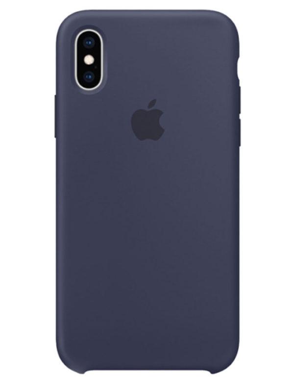 Чехол iPhone XS Max Silicone Case Midnight Blue (Оригинал)