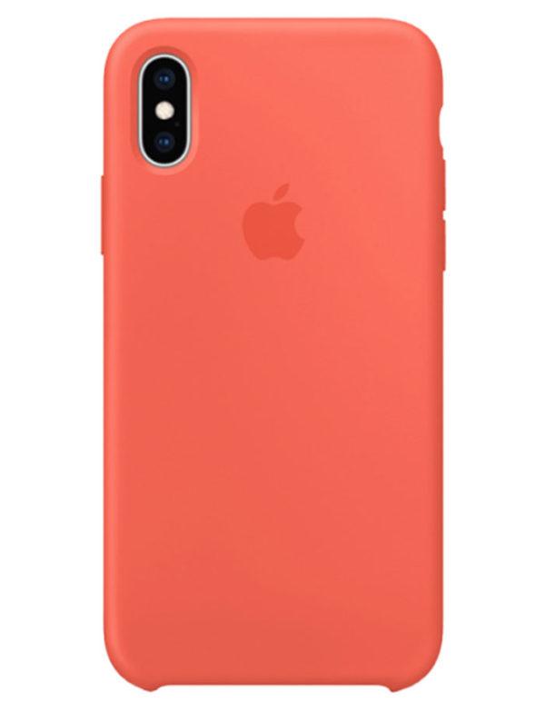 Чехол iPhone XS Silicone Case Nectarine (Оригинал)