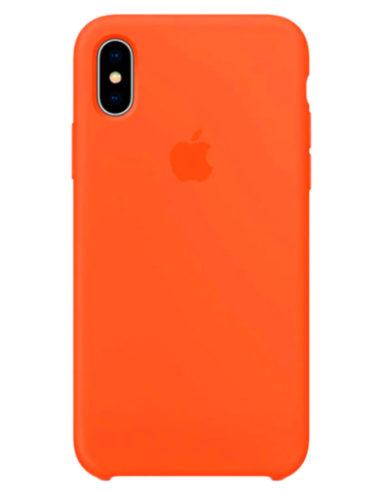 Чехол iPhone X Silicone Case Orange (Оригинал)