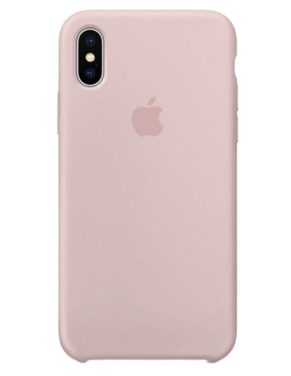 Чехол iPhone X Silicone Case Pink Sand (Оригинал)
