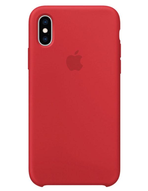 Чехол iPhone XS Silicone Case Red Product (Оригинал)