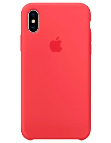 Чехол iPhone X Silicone Case Red Raspberry (Оригинал)