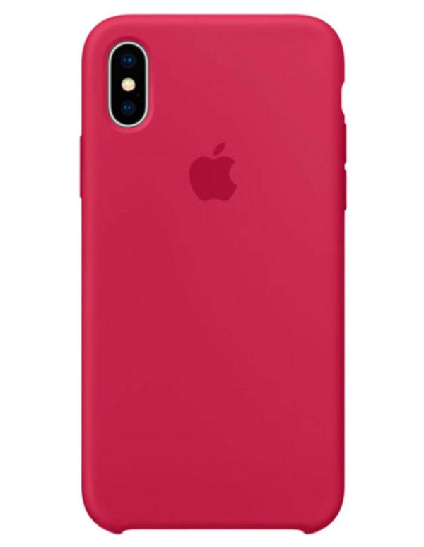 Чехол iPhone X Silicone Case Rose Red (Оригинал)
