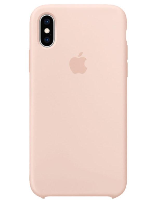 Чехол iPhone XS Silicone Case Sand Pink (Оригинал)