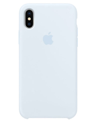 Чехол iPhone X Silicone Case Sky Blue (Оригинал)