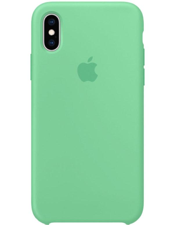 Чехол iPhone XS Silicone Case Spearmint (Оригинал)