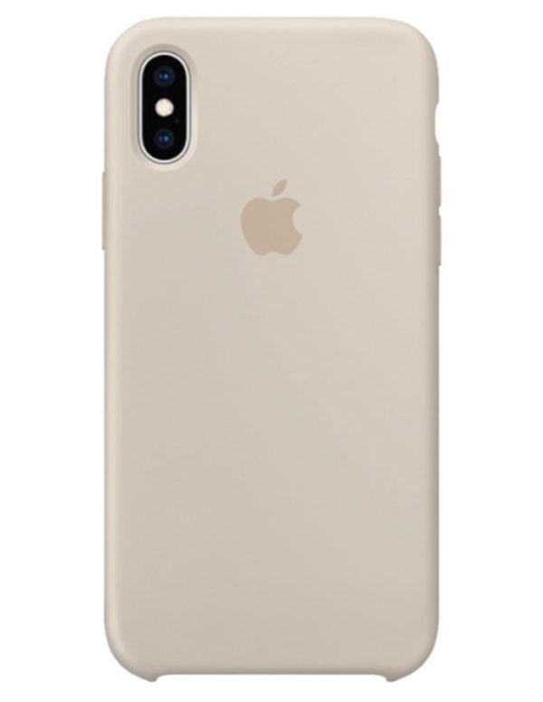 Чехол iPhone XS Silicone Case Stone (Оригинал)