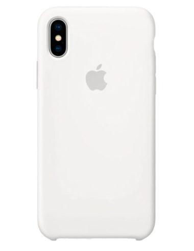 Чехол iPhone X Silicone Case White (Оригинал)