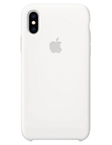 Чехол iPhone XS Silicone Case White (Оригинал)