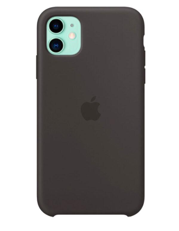 Чехол iPhone 11 Silicone Case Black (Оригинал)